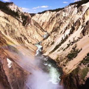Stunning Grand Canyon of the Yellowstone. Complete with rainbow