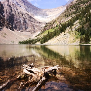 Lake Agnes in early July