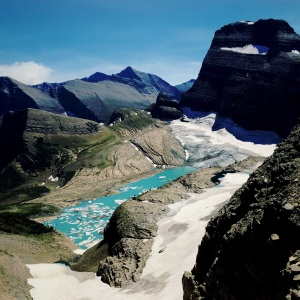 The receeding Grinnell Glacier