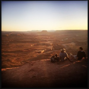 Taking in the sunset at the Green River Overlook