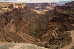 The Shafer Trail Road into Shafer Canyon