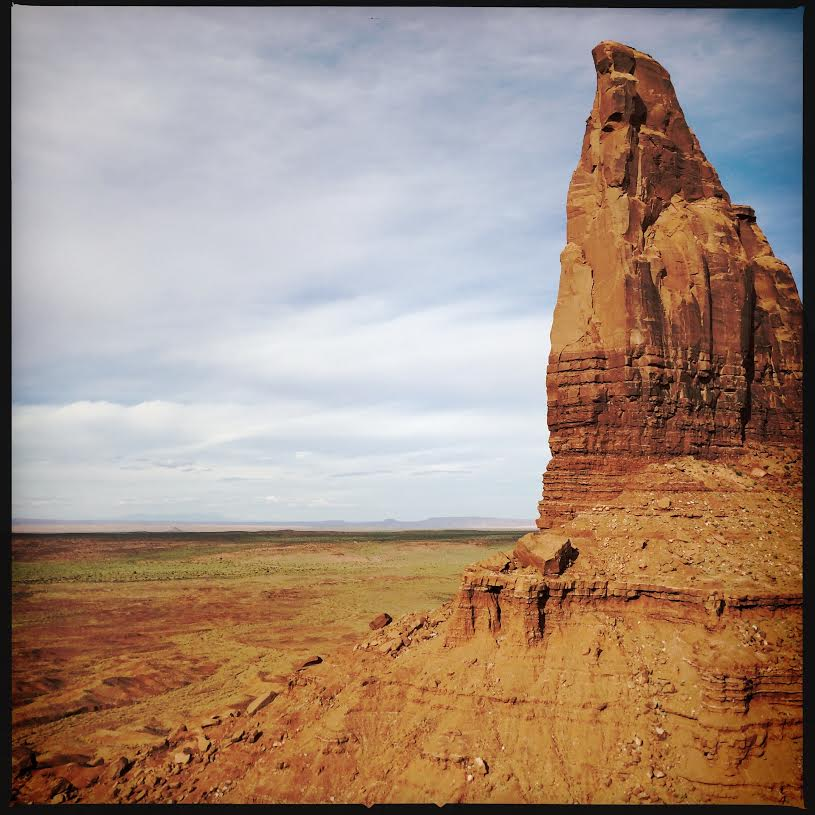 The edge of Spearhead Mesa